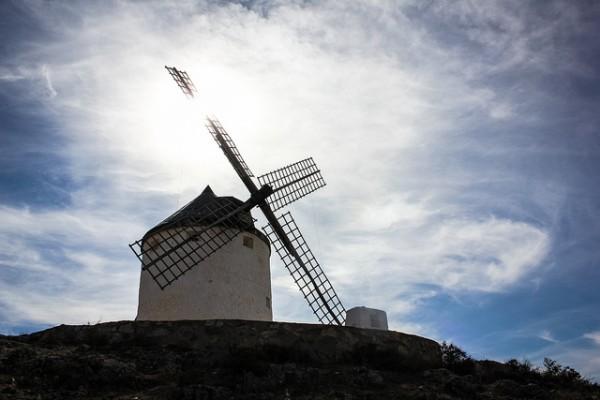 Molino de viento en La Mancha