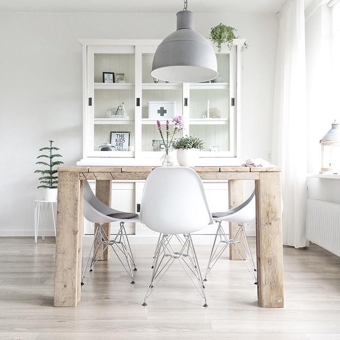 El binomio perfecto para cualquier interior es el blanco y for Color haya madera
