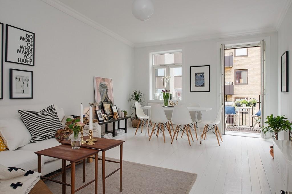 El binomio perfecto para cualquier interior es el blanco y for Decoracion salon muebles blancos
