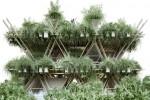 Una ciudad construida únicamente con bambú
