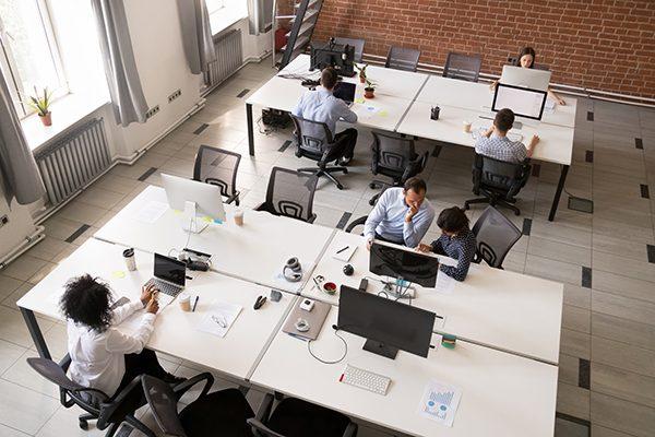 pyme, espacio de trabajo, open space, oficina, cambio, digitalización, evolución, oficina sin despacho.